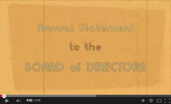 Annual Statement to The Board of Directors: January 17, 1974